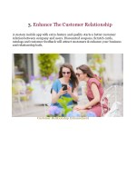 3 enhance the customer relationship