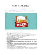 health benefits of beer ever thought about