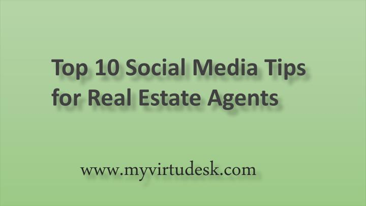 top 10 social media tips for real estate agents n.