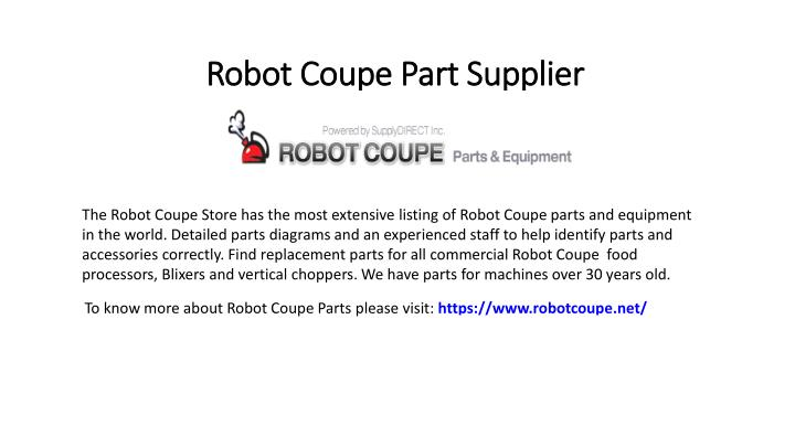 robot coupe part supplier n.