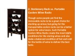 2 stationary rack vs portable coolers wine racks