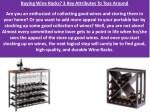 buying wine racks 3 key attributes to toss around