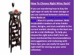 how to choose right wine rack