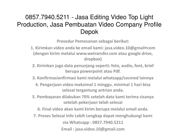 0857 7940 5211 jasa editing video top light n.