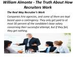 william almonte the truth about how recruiters work 2
