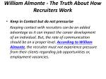 william almonte the truth about how recruiters work 5
