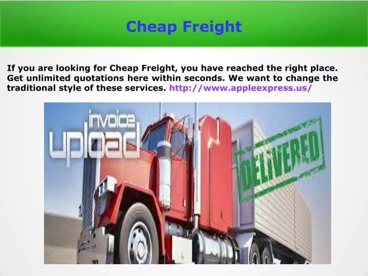 cheap freight n.