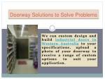 doorway solutions to solve problems