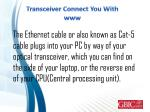 transceiver connect you with www