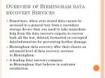 overview of birmingham data recovery services