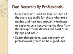 data recovery by professionals