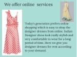 we offer online services