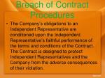 breach of contract procedures
