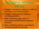 hempworx affiliates will not