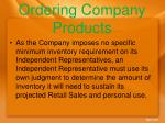 ordering company products
