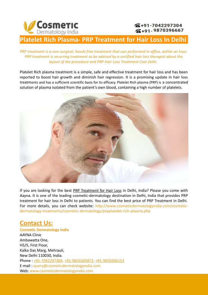 platelet rich plasma prp treatment for hair loss n.
