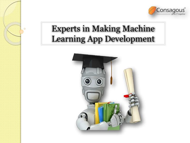experts in making machine learning app development n.