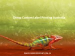 cheap custom label printing australia