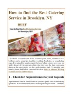how to find the best catering service in brooklyn
