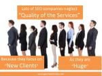 lots of seo companies neglect quality