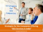 strategies for the companies offering