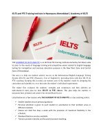ielts and pte training institute in naranpura
