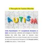 5 therapies for autism disorder