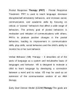pivotal response therapy prt pivotal response