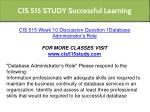 cis 515 study successful learning 27