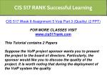 cis 517 rank successful learning 5