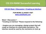 cis 524 rank successful learning 1