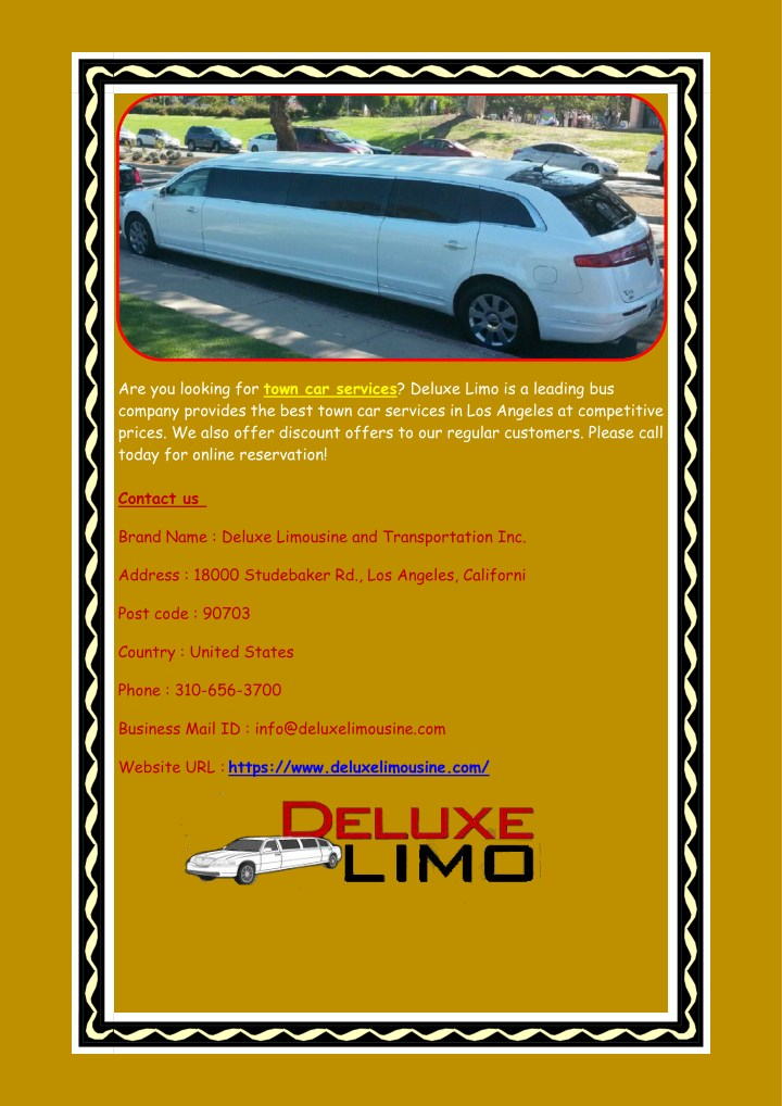 are you looking for town car services deluxe limo n.