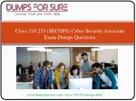 cisco 210 255 secops cyber security associate exam dumps questions