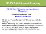 cis 558 rank successful learning 11
