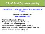 cis 560 rank successful learning 6