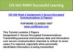 cis 560 rank successful learning 7