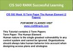cis 560 rank successful learning 8