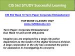 cis 562 study successful learning 3