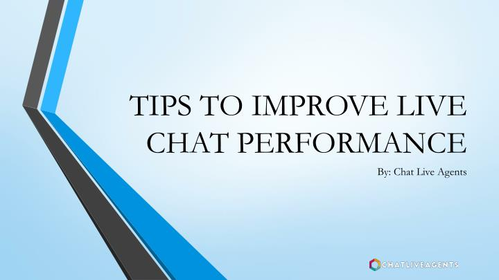 tips to improve live chat performance n.