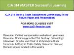cja 314 master successful learning 25