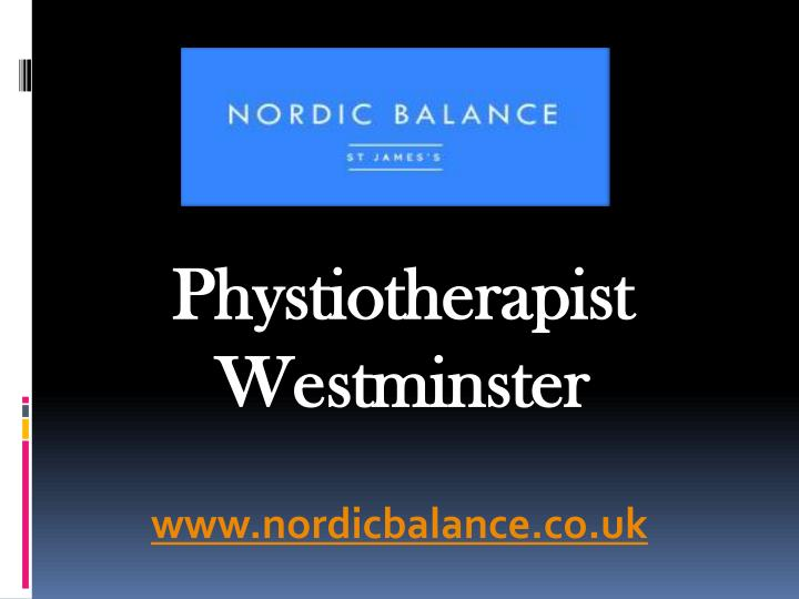 phystiotherapist westminster n.