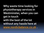 why waste time looking for physiotherapy services