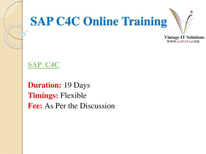 sap c4c online training n.