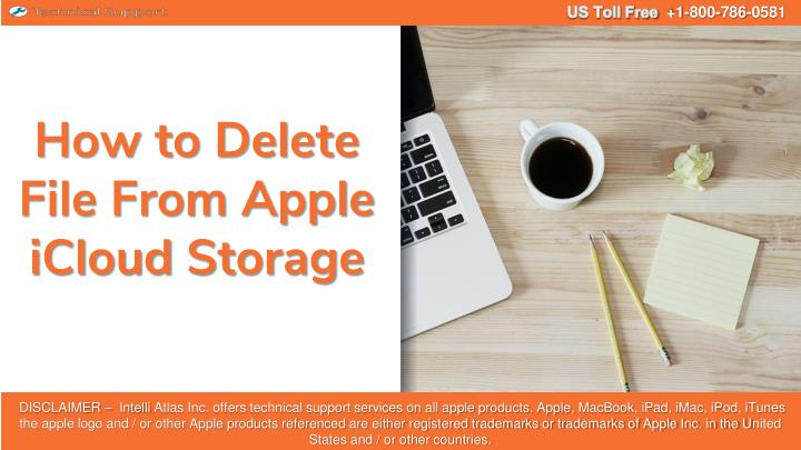 how to delete file from apple icloud storage n.
