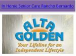 in home senior care rancho bernardo