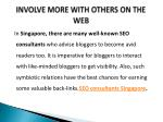 involve more with others on the web