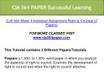 cja 364 paper successful learning 14