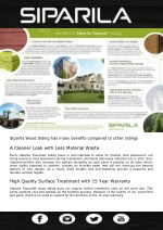 siparila wood siding has many benefits compared