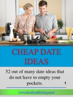52 out of many date ideas that do not have