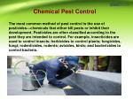 chemical pest control